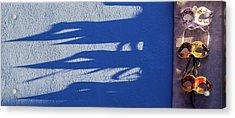 Burano Shadows Acrylic Print by Art Ferrier