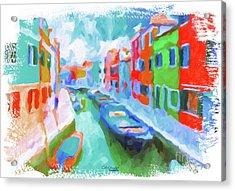 Burano, Venice, Italy Acrylic Print by Chris Armytage