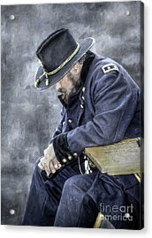 Burden Of War Civil War Union General Acrylic Print