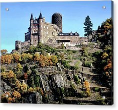 Acrylic Print featuring the photograph Burg Katz - Rhine Gorge by Jim Hill
