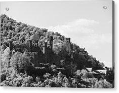 Burg Reichenstein B W 02 Acrylic Print