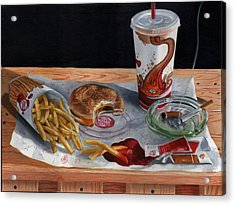 Burger King Value Meal No. 2 Acrylic Print by Thomas Weeks