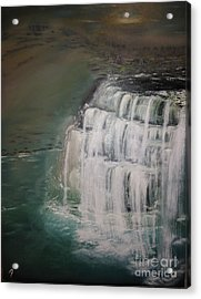 Burgess Falls Acrylic Print by Delnora Reed