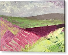 Burgundy Fields Acrylic Print