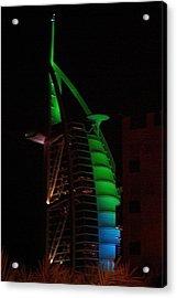 Burj Al Arab Dubai Night Acrylic Print by Iain MacVinish
