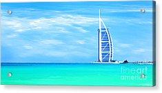 Burj Al Arab Hotel On Jumeirah Beach In Dubai Acrylic Print