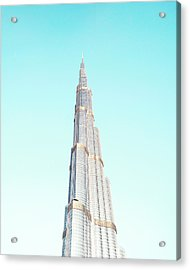 Burj Khalifa Acrylic Print by Happy Home Artistry