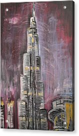 Burj Khalifa Acrylic Print by Sladjana Lazarevic
