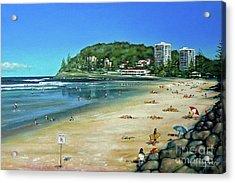 Acrylic Print featuring the painting Burleigh Beach 100910 by Selena Boron