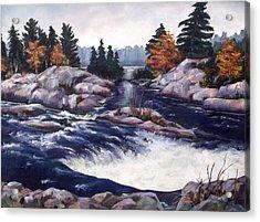 Burleigh Falls Acrylic Print by Diane Daigle