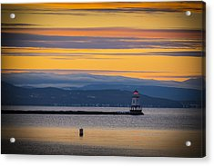 Burlington Lighthouse Sunset Acrylic Print