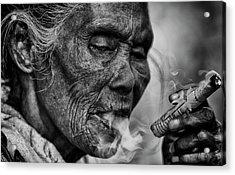 Burma Smoker Acrylic Print by David Longstreath