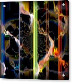 Burn The Fire Acrylic Print by Fania Simon