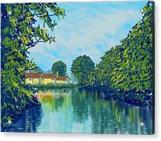 Burnby Hall Acrylic Print