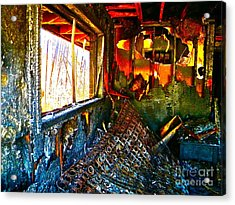 Burned Acrylic Print by Chuck Taylor