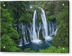 Acrylic Print featuring the photograph Burney Creek Falls by Patricia Davidson