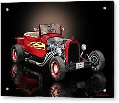 Burnin' Up The Back Streets Tearin' Up The Town Acrylic Print by Rat Rod Studios