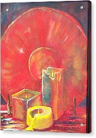 Burning Candles Acrylic Print by Lynda McDonald