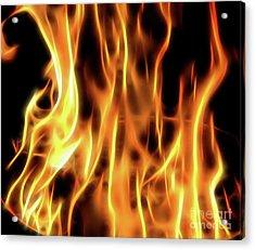 Burning Flames Fractal Acrylic Print