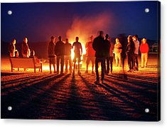Acrylic Print featuring the photograph Burning Grains Of Rocket Fuel by Peter Thoeny