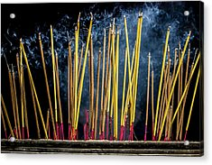 Burning Joss Sticks Acrylic Print
