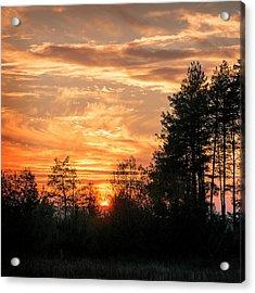 Burning Sunset. Horytsya, 2014. Acrylic Print