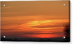 Burning Sunset Acrylic Print