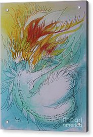 Burning Thoughts Acrylic Print