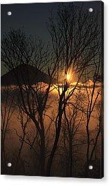 Burning Through The Fog Acrylic Print by Naman Imagery