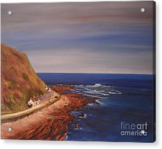 Acrylic Print featuring the painting Burnmouth Scotland by Beatrice Cloake