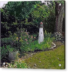 Burnside Garden Lighthouse Acrylic Print by Cedric Hampton