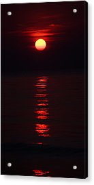 Burnt Orange Sunrise Acrylic Print