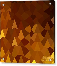 Burnt Umber Brown Abstract Low Polygon Background Acrylic Print by Aloysius Patrimonio