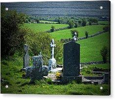 Burren Crosses County Clare Ireland Acrylic Print by Teresa Mucha