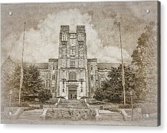 Burruss Hall Series II Acrylic Print by Kathy Jennings