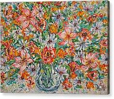 Burst Of Flowers Acrylic Print