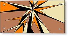 Burst Of Orange 2 Acrylic Print by Linda Velasquez