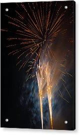 Bursting Colorful Fireworks Acrylic Print