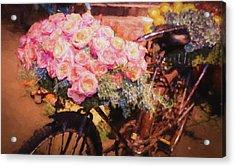 Bursting With Flowers Acrylic Print