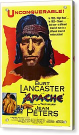 Burt Lancaster As The Apache 1954 Acrylic Print by Mountain Dreams