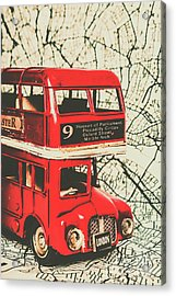 Bus Line Art Acrylic Print