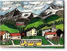 Bus Travel Acrylic Print by Monica Engeler