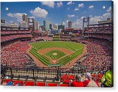 Busch Stadium St Louis Cardinals Ball Park Village #3 Acrylic Print by David Haskett