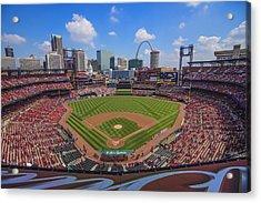 Busch Stadium St. Louis Cardinals Ball Park Village #3b Acrylic Print by David Haskett