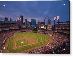 Busch Stadium St. Louis Cardinals Ball Park Village Twilight #3c Acrylic Print