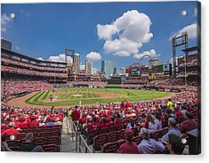 Busch Stadium St. Louis Cardinals Cardinal Nation Ballpark Village Day #2a Acrylic Print