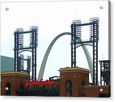 Busch Stadium With Arch Acrylic Print
