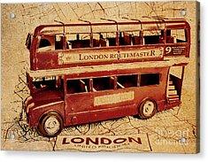 Buses Of Vintage England Acrylic Print