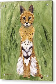 Acrylic Print featuring the painting Bush Cat by Jamie Frier