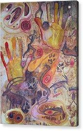 Bushman Comes Alive Acrylic Print by Vijay Sharon Govender